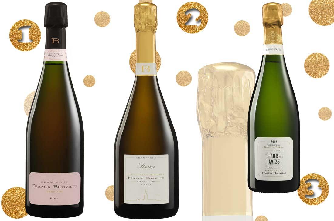 Sélection des champagnes Franck Bonville