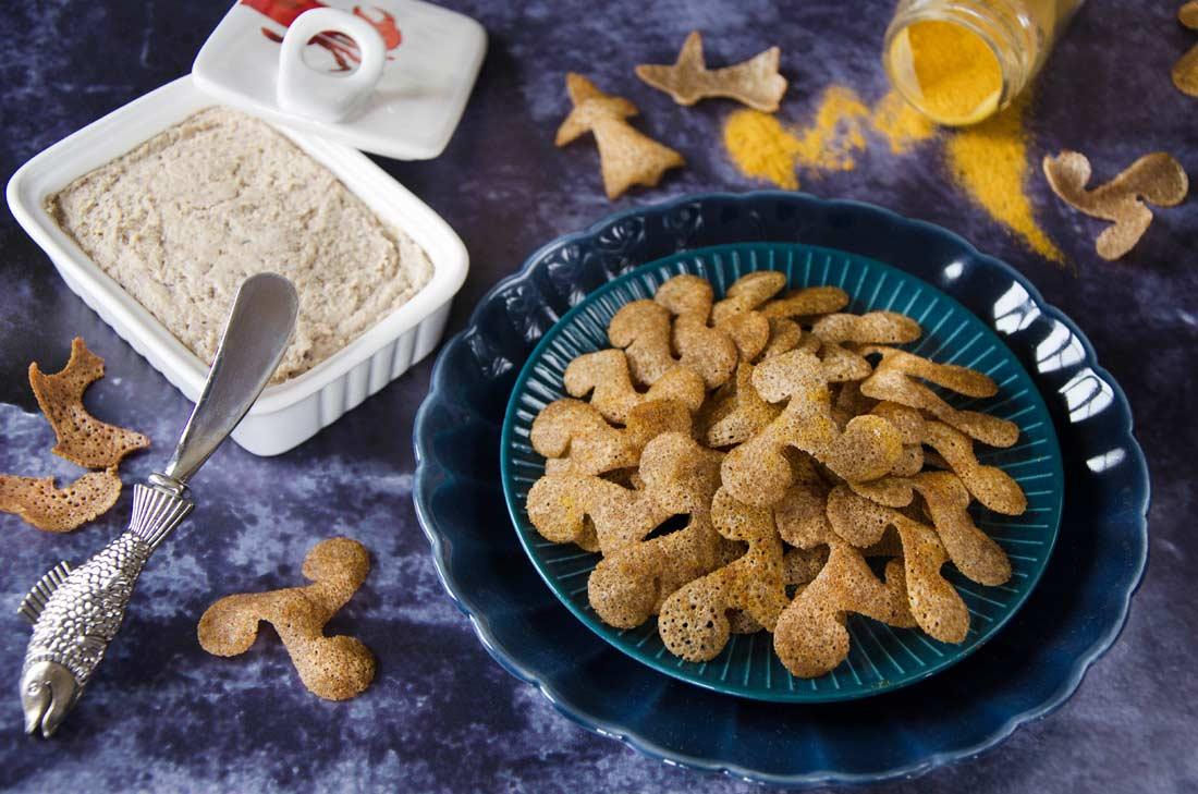 chips de sarrasin au kari gosse fait maison
