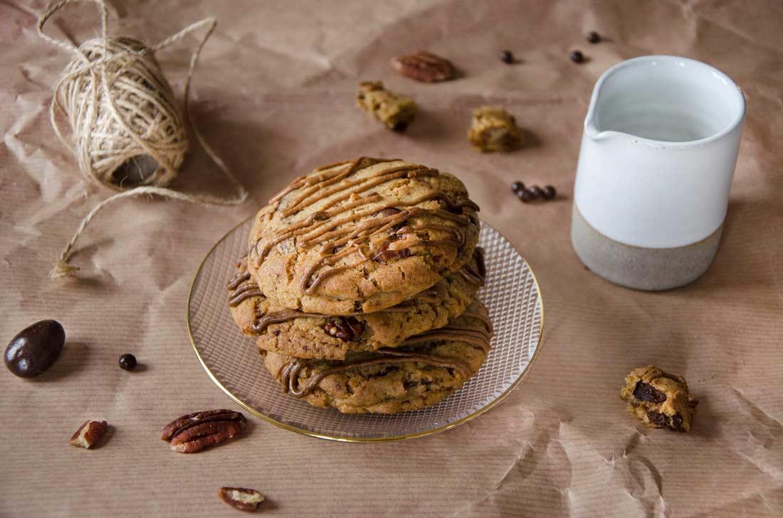 Cookies chocolat praliné noix de pécan