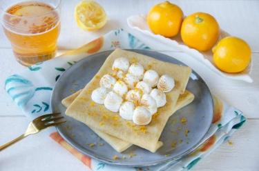 Crêpes meringuées citron bergamote