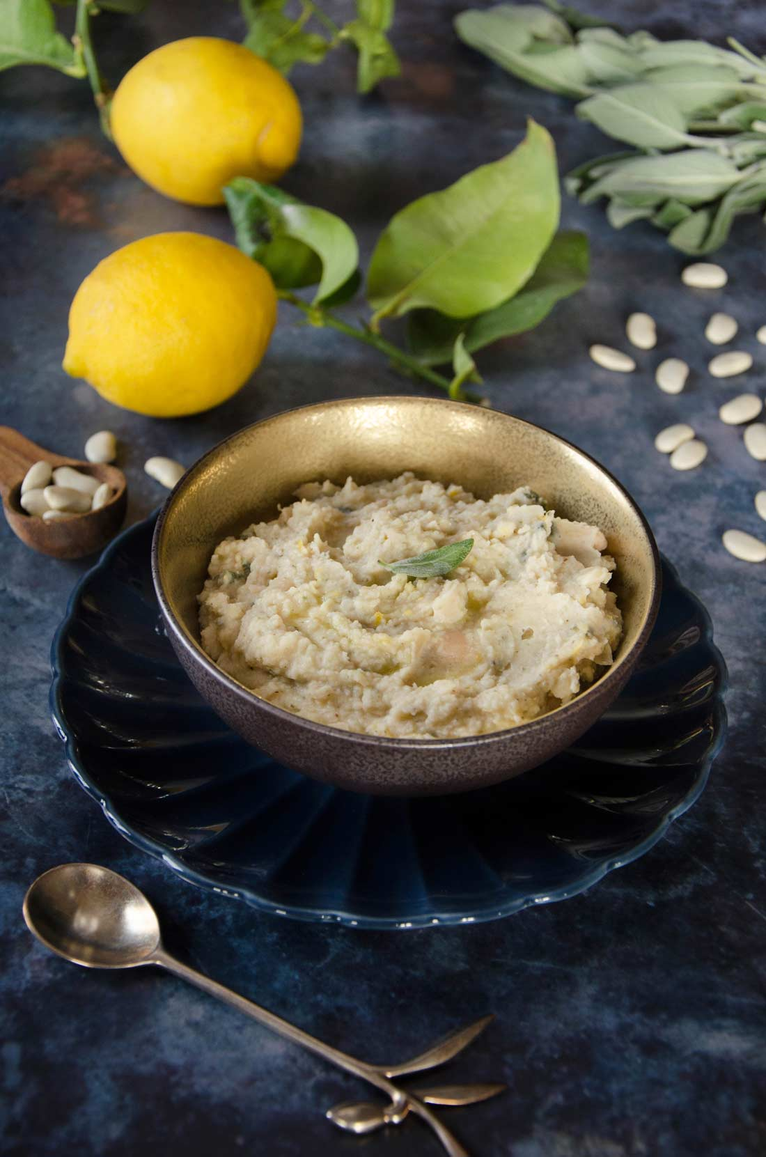 Écrasé de haricots tarbais citron sauge