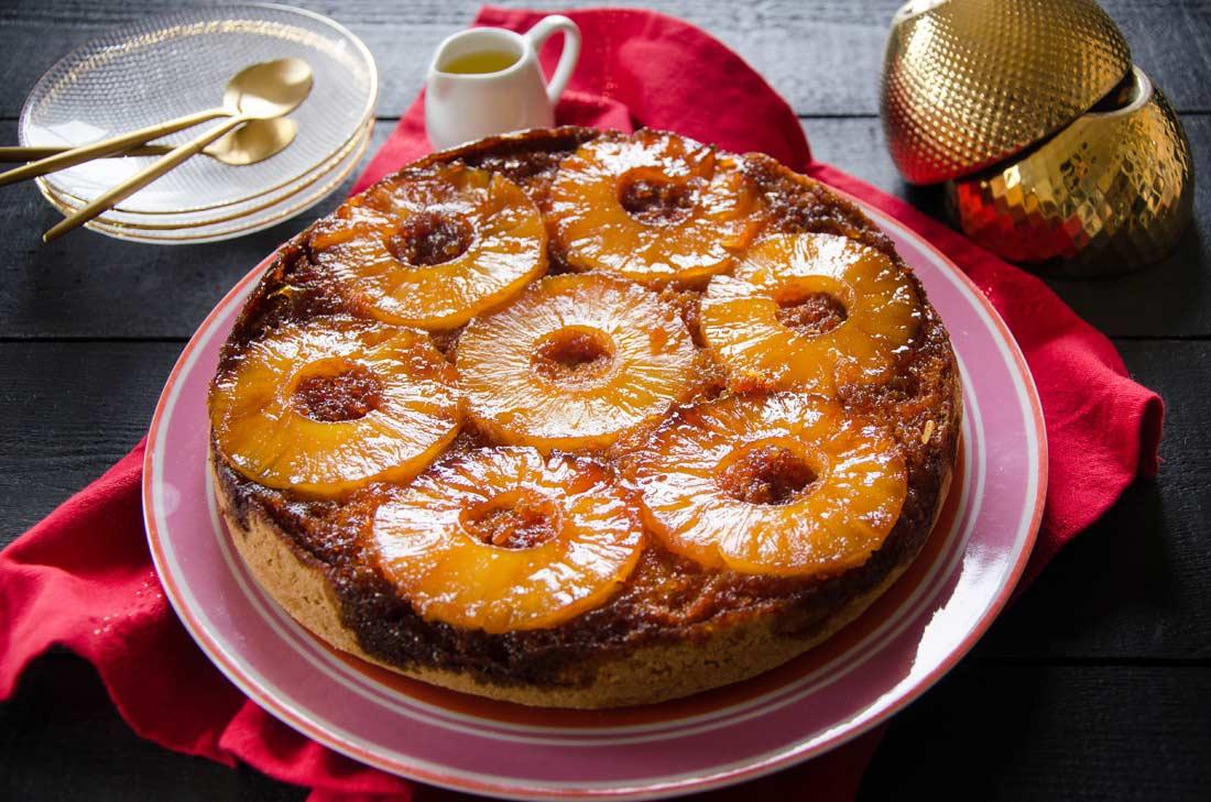 gâteau renversé à l'ananas maison