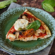 Pizza chou-fleur champignons chèvre