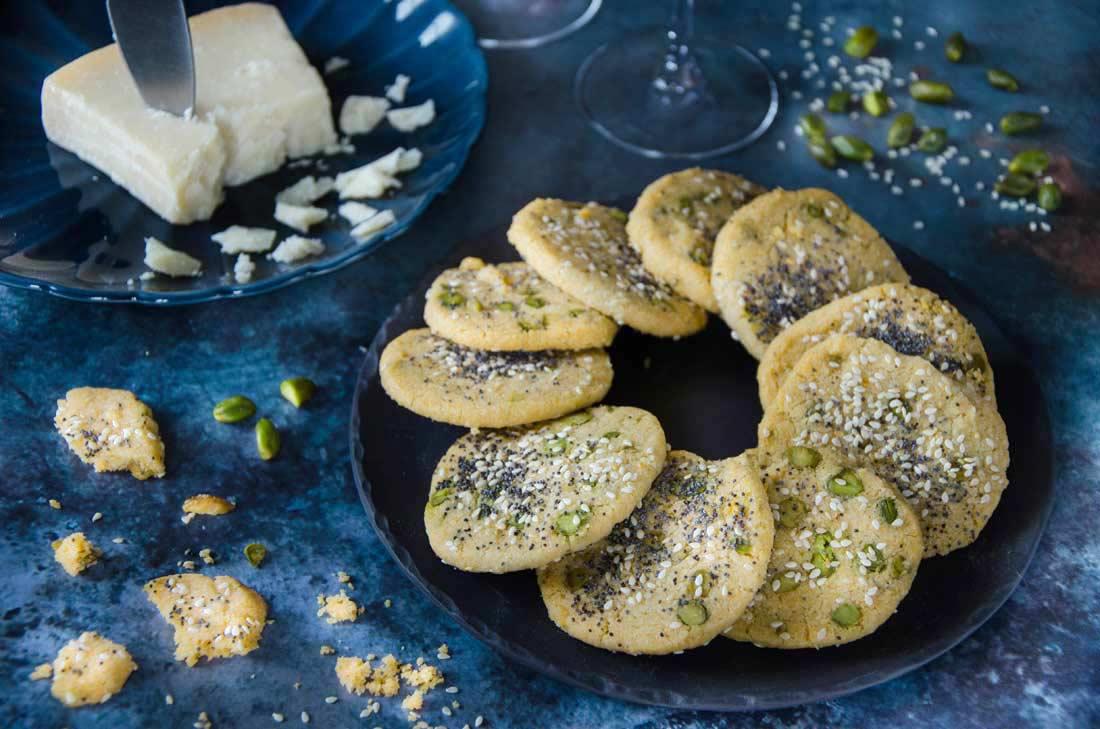 Sablés parseman amandes et pistaches fait maison