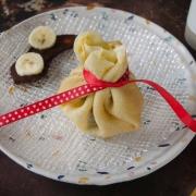 Aumonières banane chocolat maison