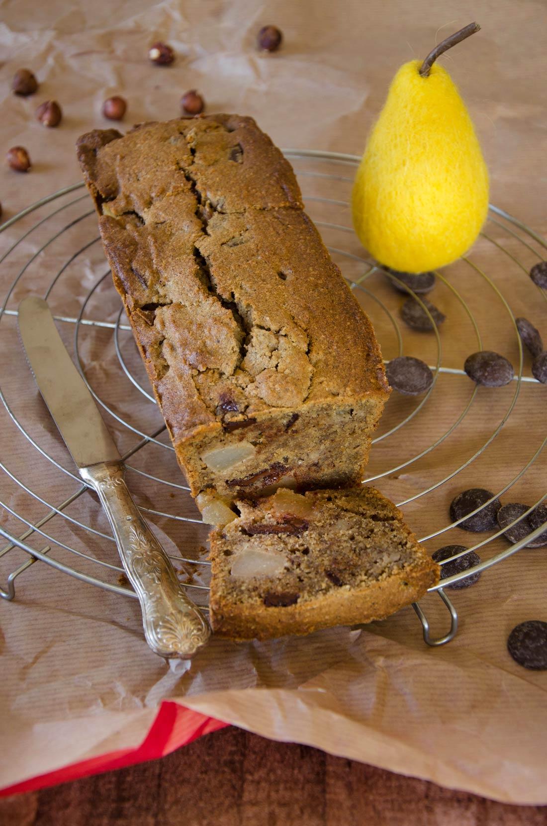 cake noisettes poire chocolat