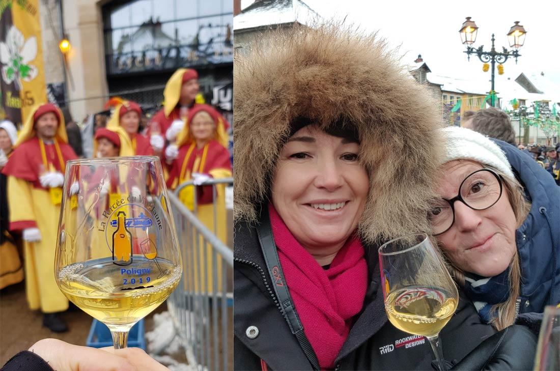 Dégustation de vin jaune à la Percée 2019, Poligny