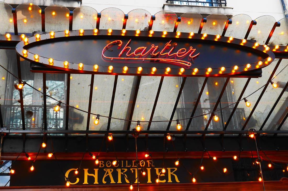 Enseigne Bouillon Chartier Montparnasse