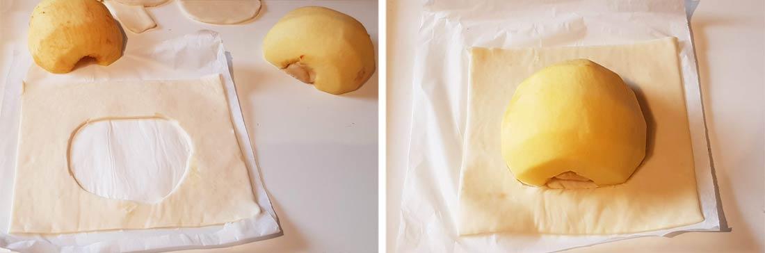 Pas à pas pour la réalisation des carrés feuilletés pomme amandes érable