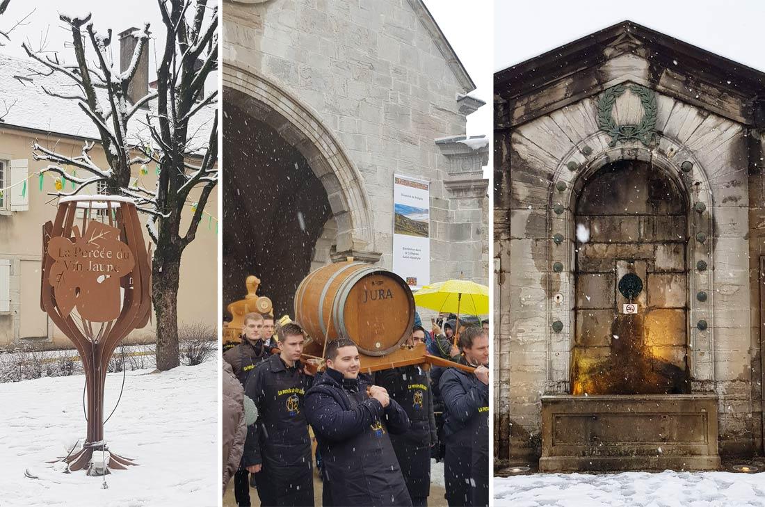 Percée du Vin Jaune 2019, sortie de la messe