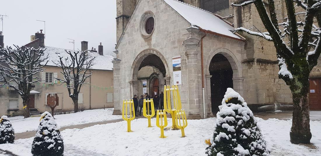 Percée du vin jaune église de Poligny