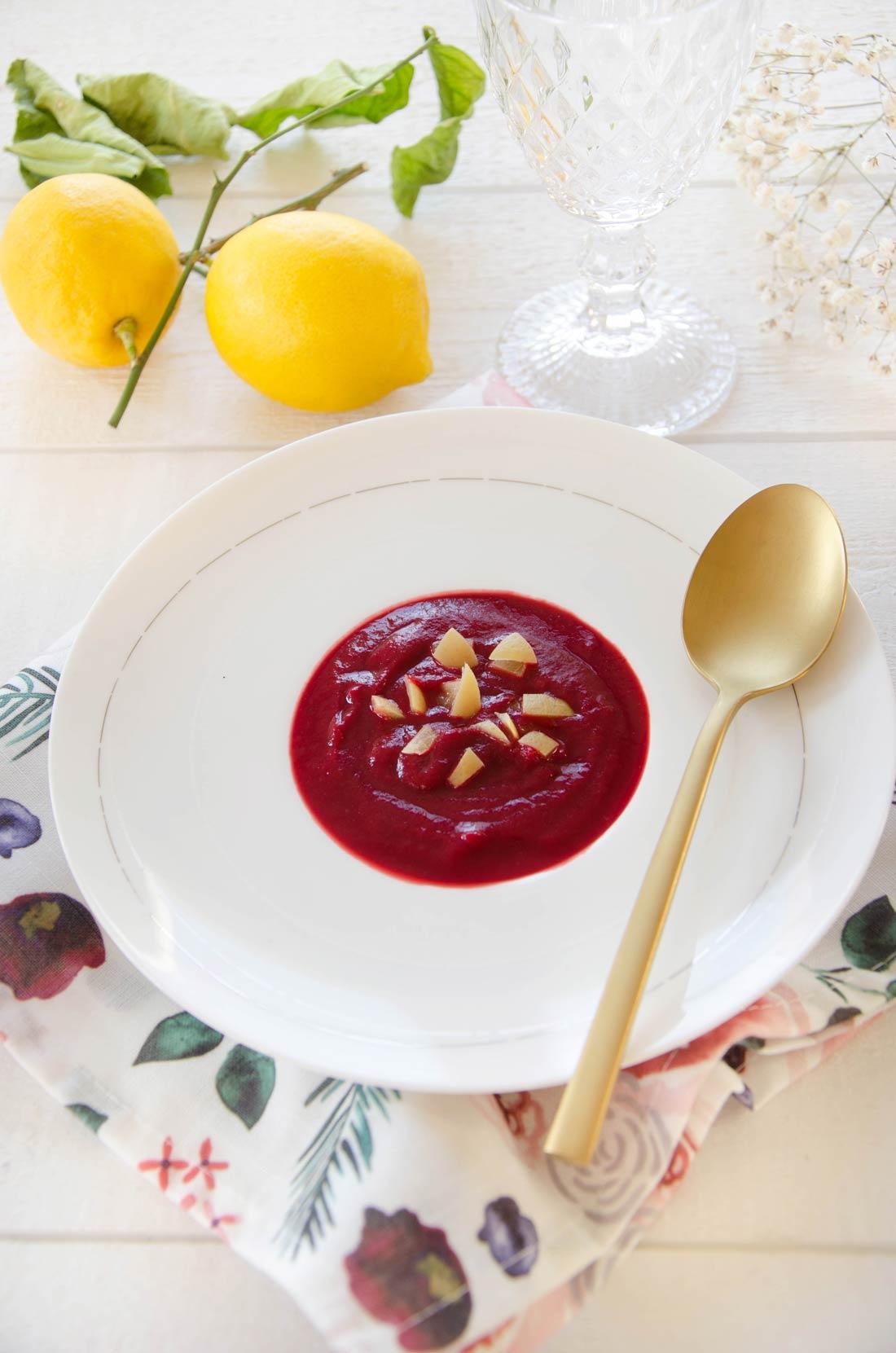 Recette de soupe betterave citron confit