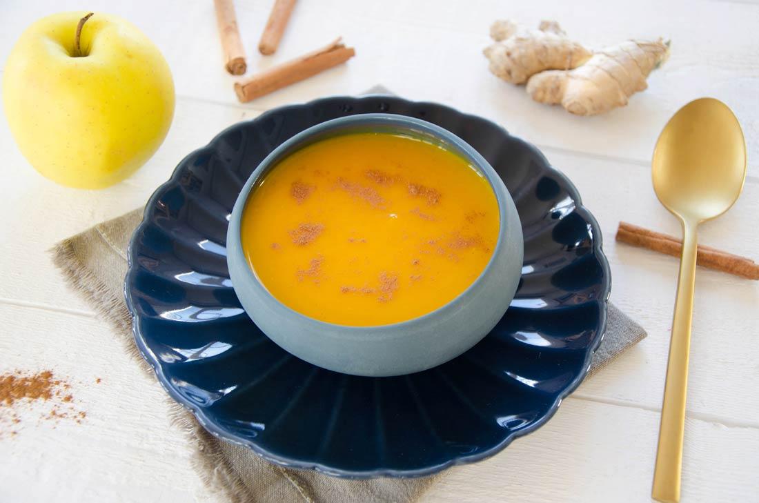 Soupe potimarron pomme gingembre