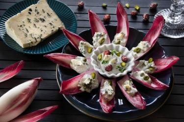 barquettes endive Saint Agur Cranberries