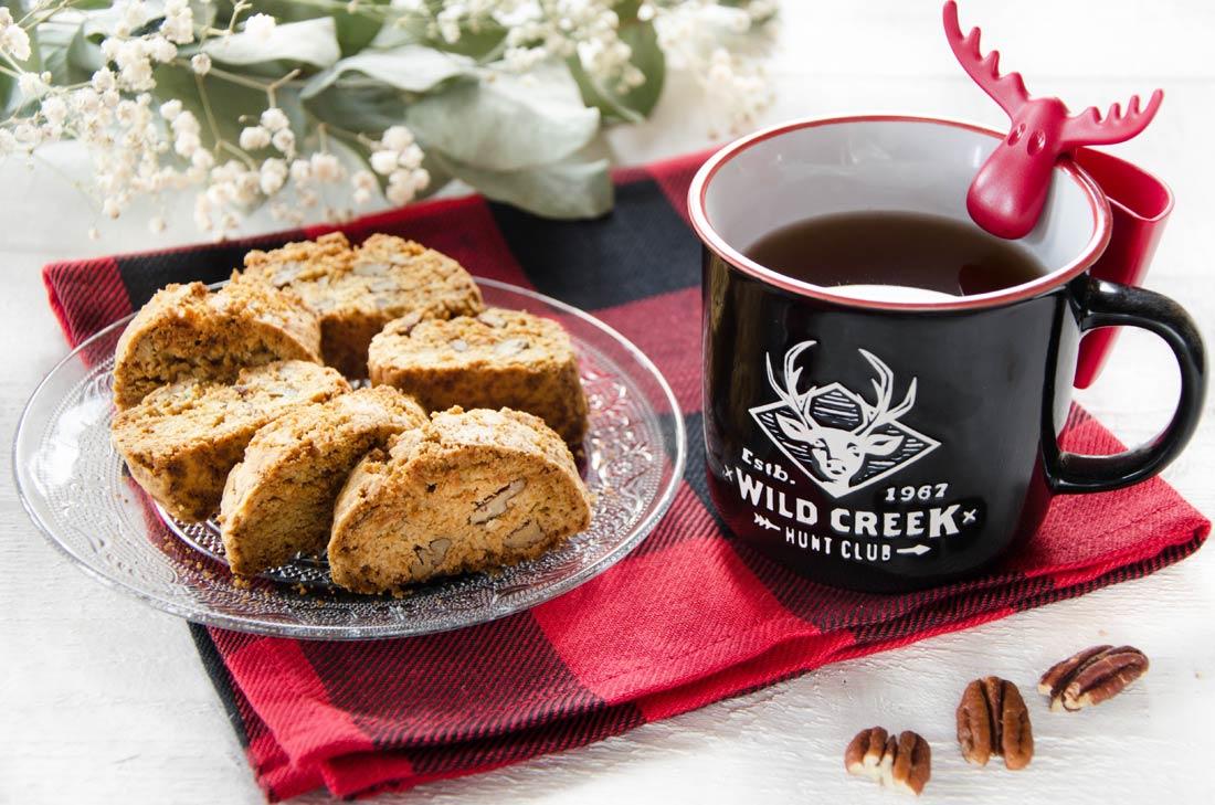 biscottis sucre d'érable noix de pécan