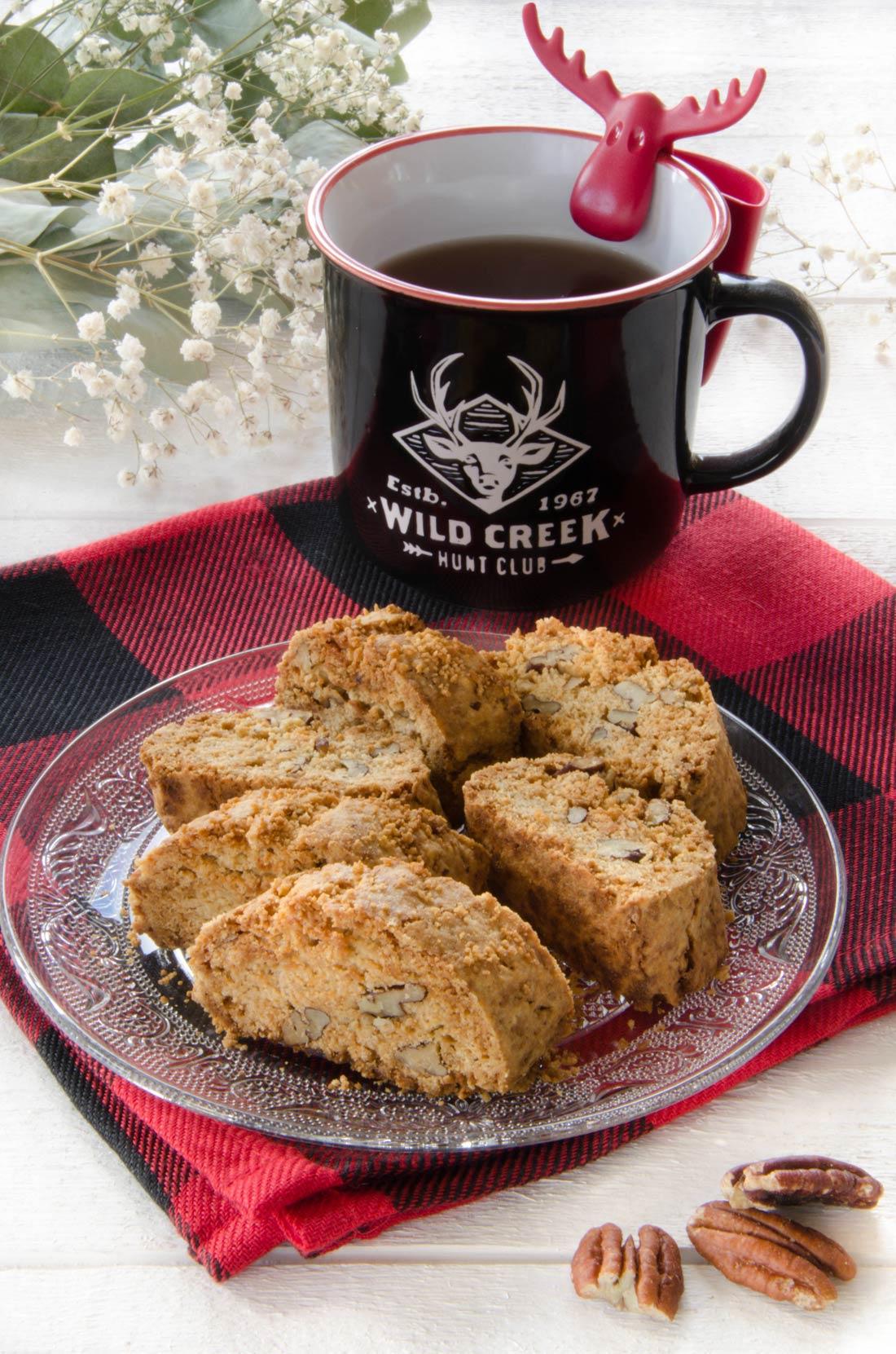 Biscottis au sucre d'érable et noix de pécan