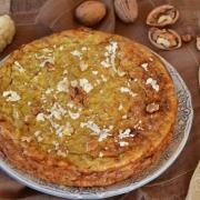 Gâteau de chou-fleur curry cumin et noix