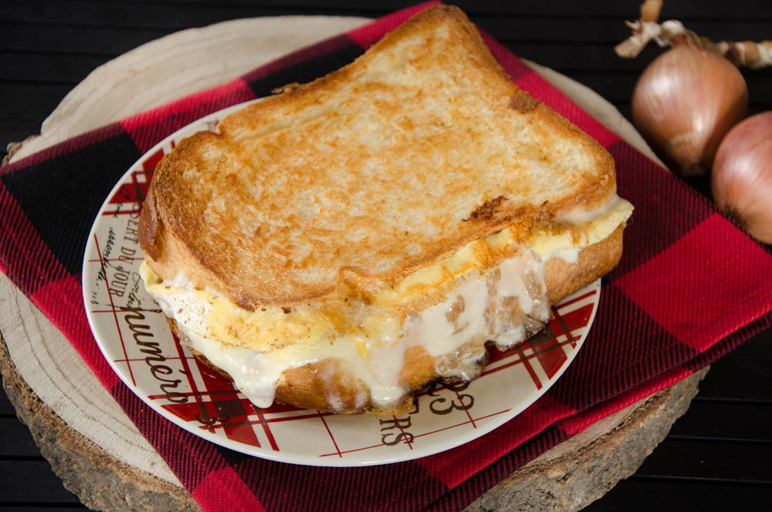 Grilled cheese fromage Origine de Charlevoix