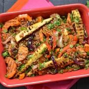Salade d'épeautre et légumes grillés