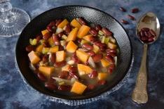soupe épicée haricots rouges patate douce