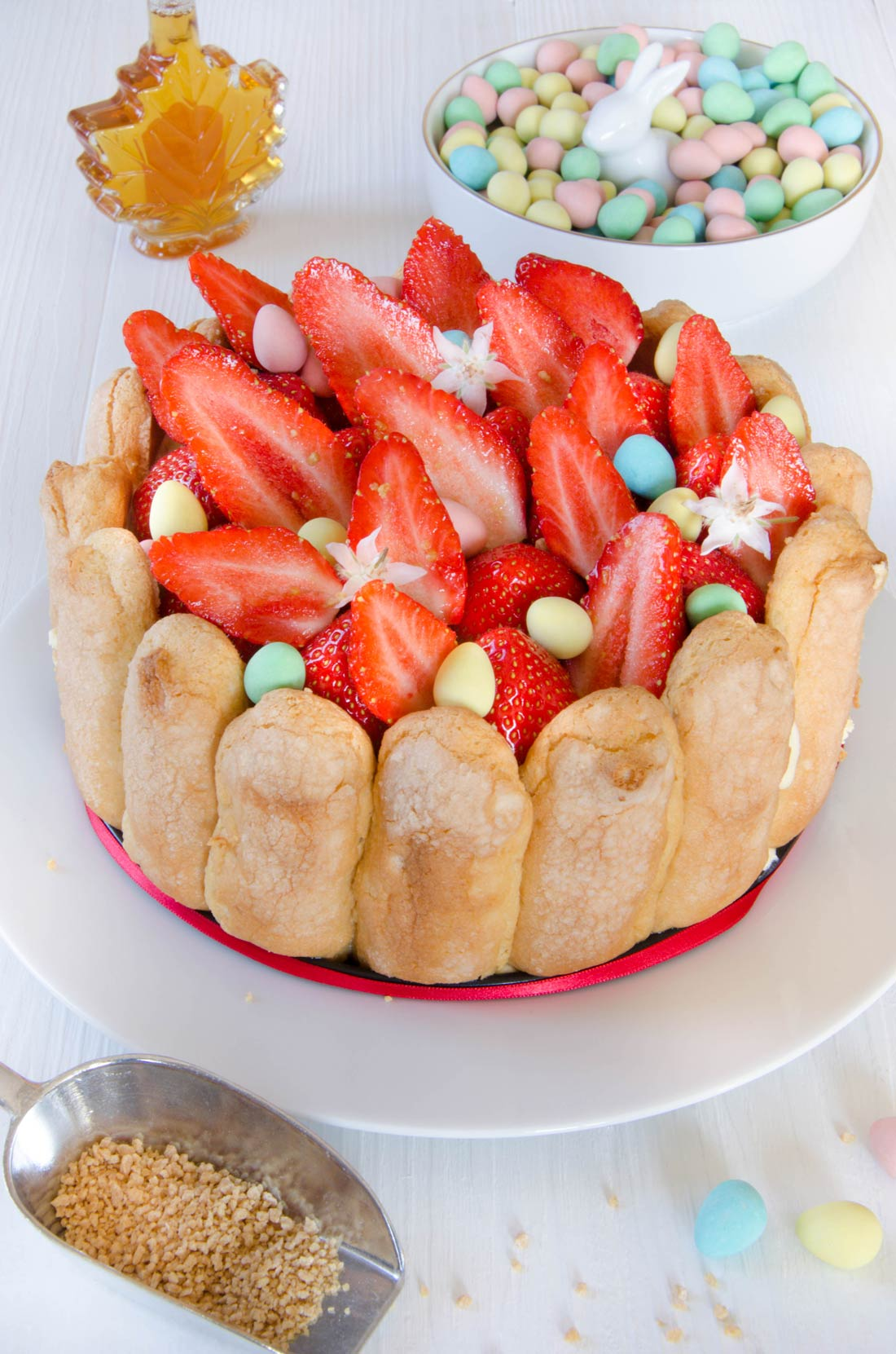 charlotte aux fraises à l'érable