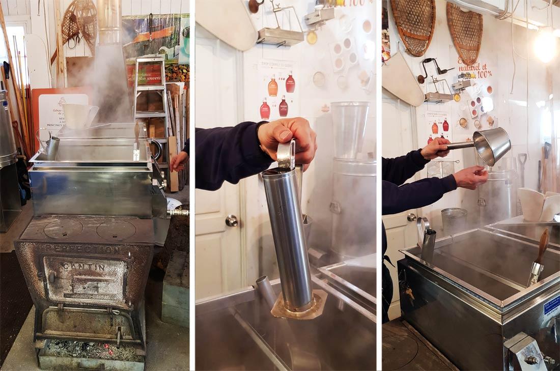 Fabrication du sirop d'érable