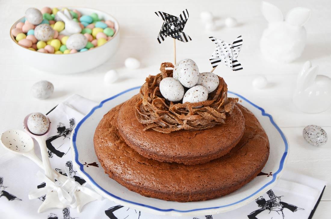 Gâteau de Pâques à la bretonne chocolat nids galettes sarrasin