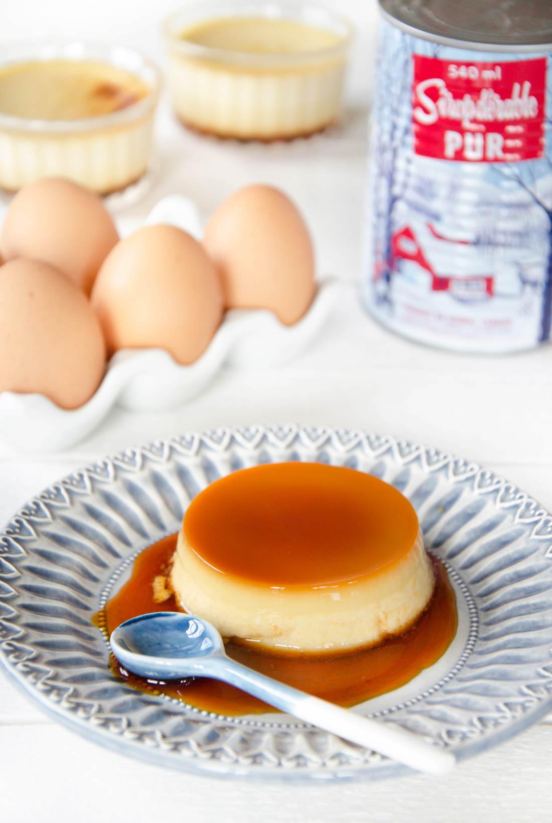 Crème caramel à l'érable maison