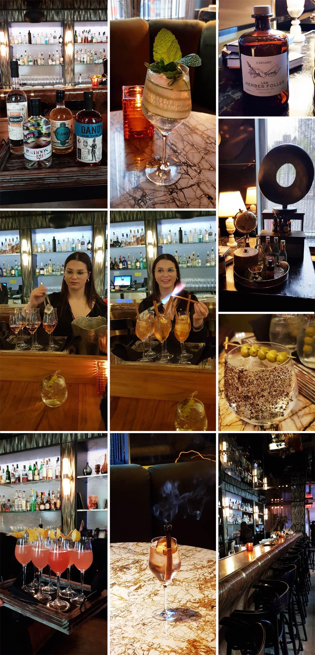 Atelier cocktail au Bartizen de l'Hôtel H autour des gins québécois