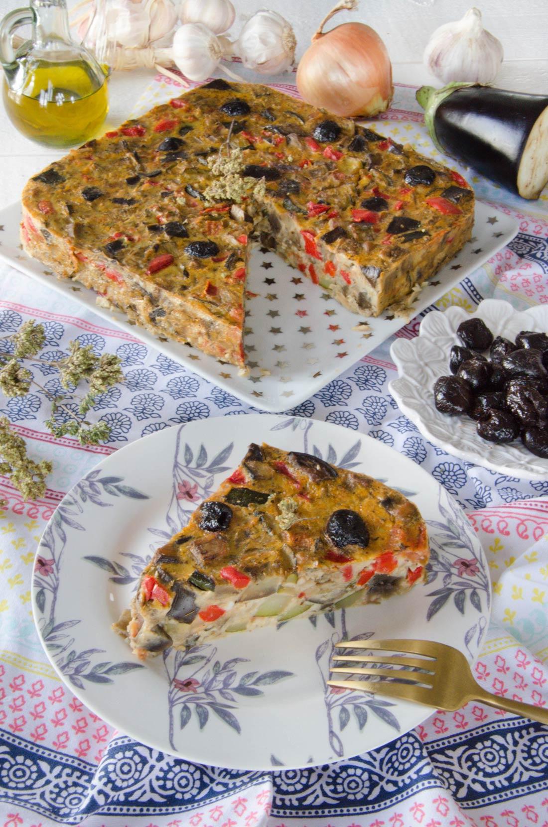 Recette de clafoutis aux légumes d'été façon ratatouille