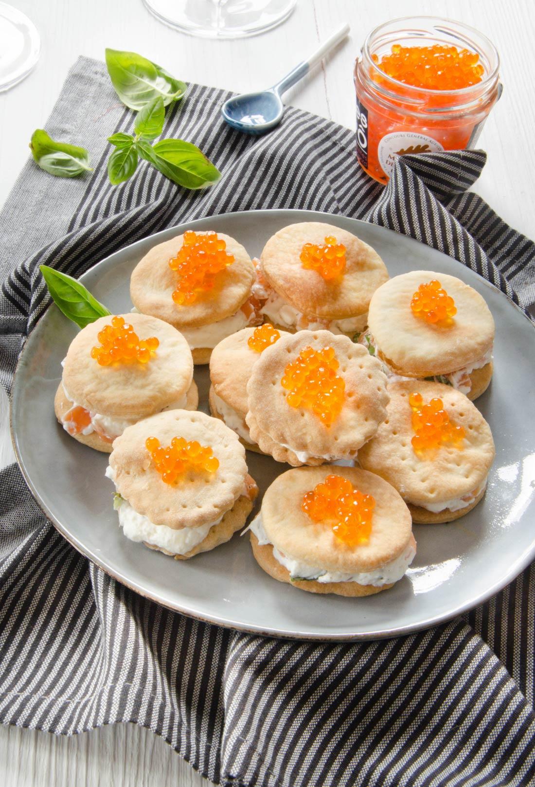 Crackers à la crème de truite fait maison