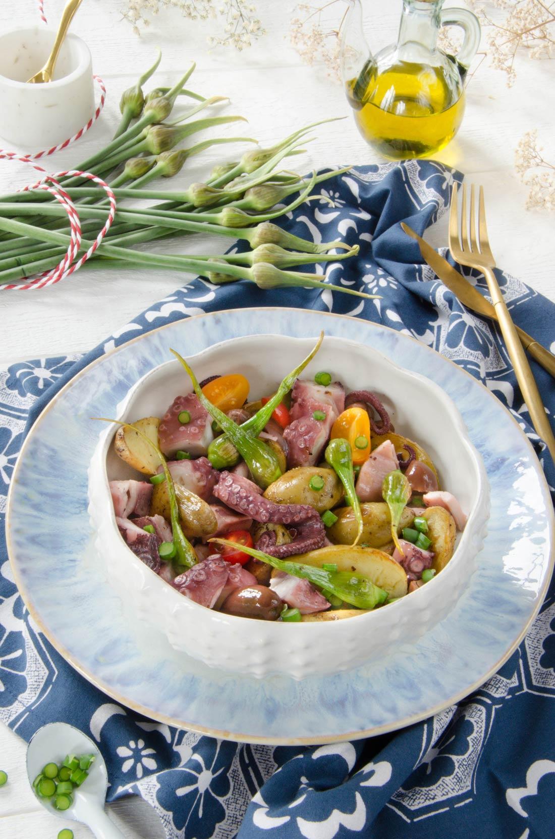 Salade de poulpe à la fleur d'ail
