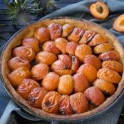 Tarte abricots lavande fait maison