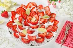 Tarte fraises coco fait maison