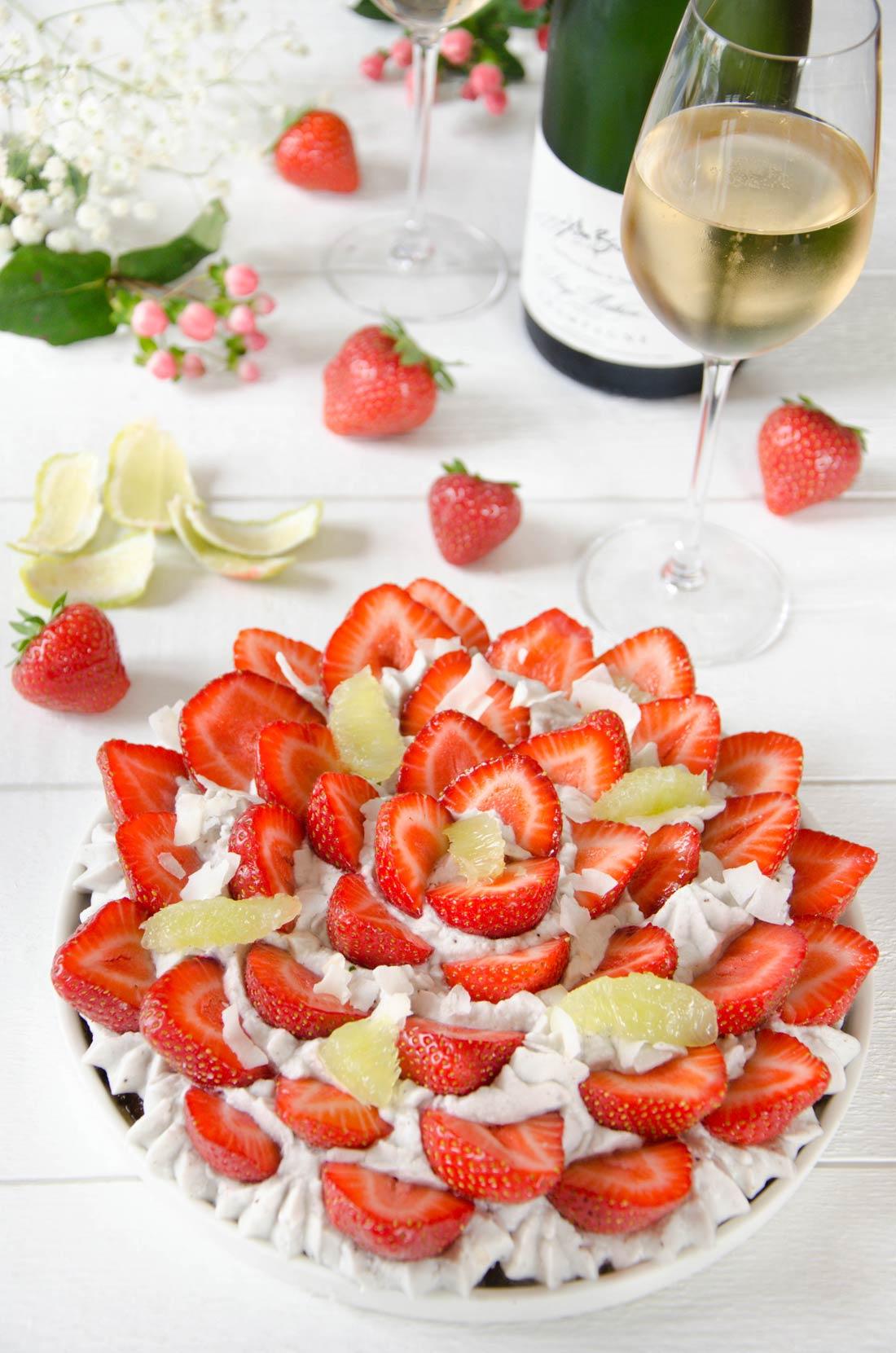 Tarte fraises coco
