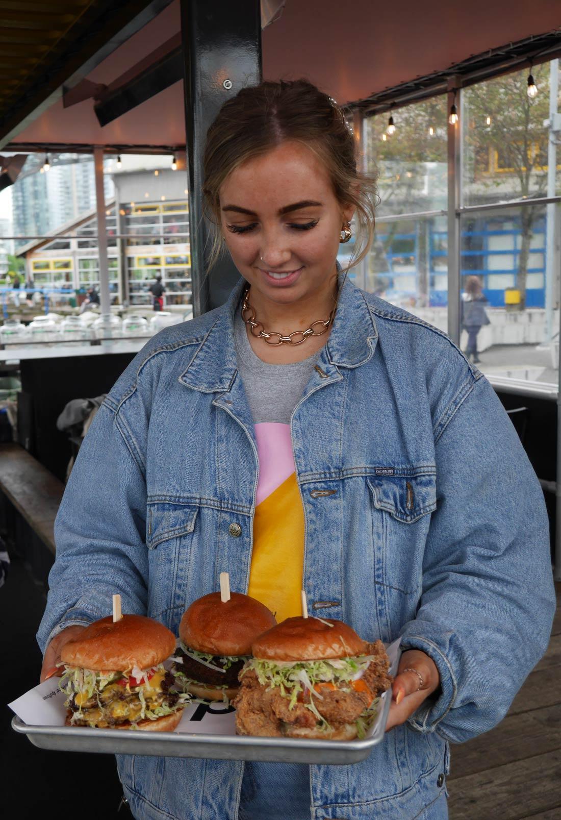 Burger chez Popina à Vancouver