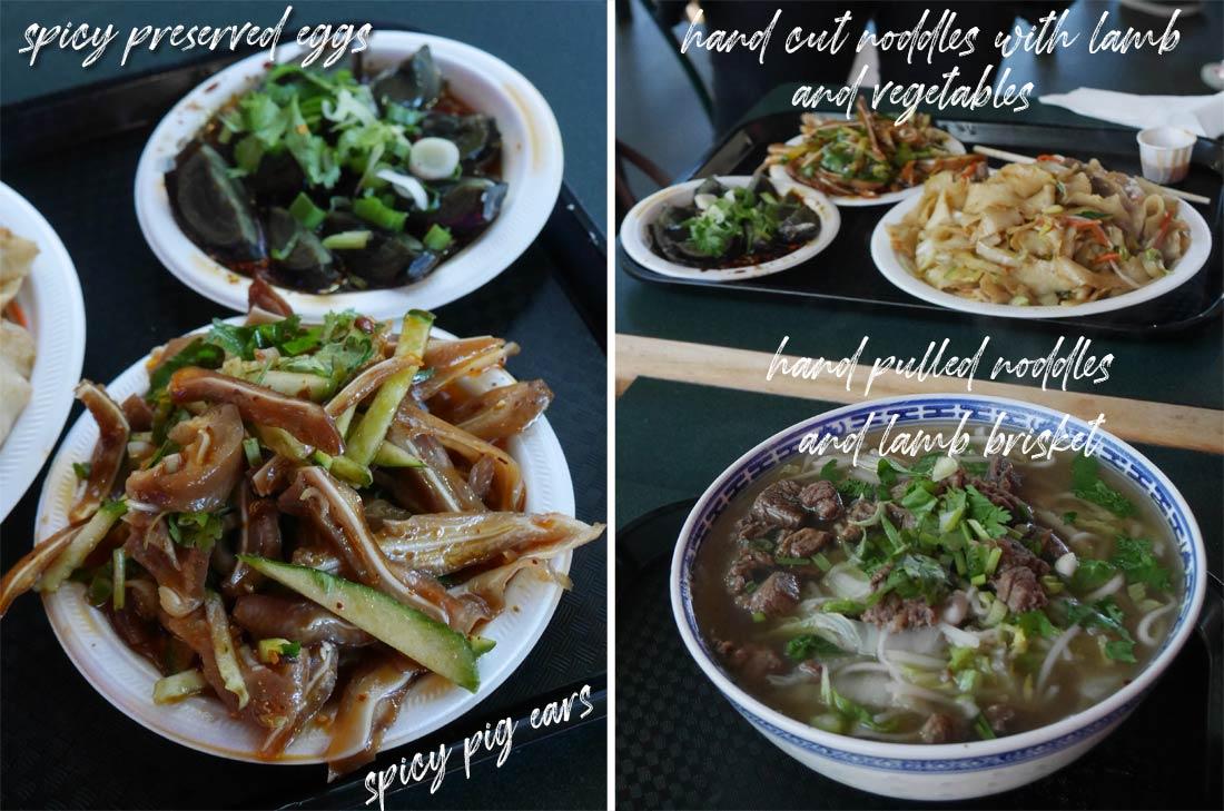 La cuisine du restaurant Xi An Cuisine au Richmond Public Market