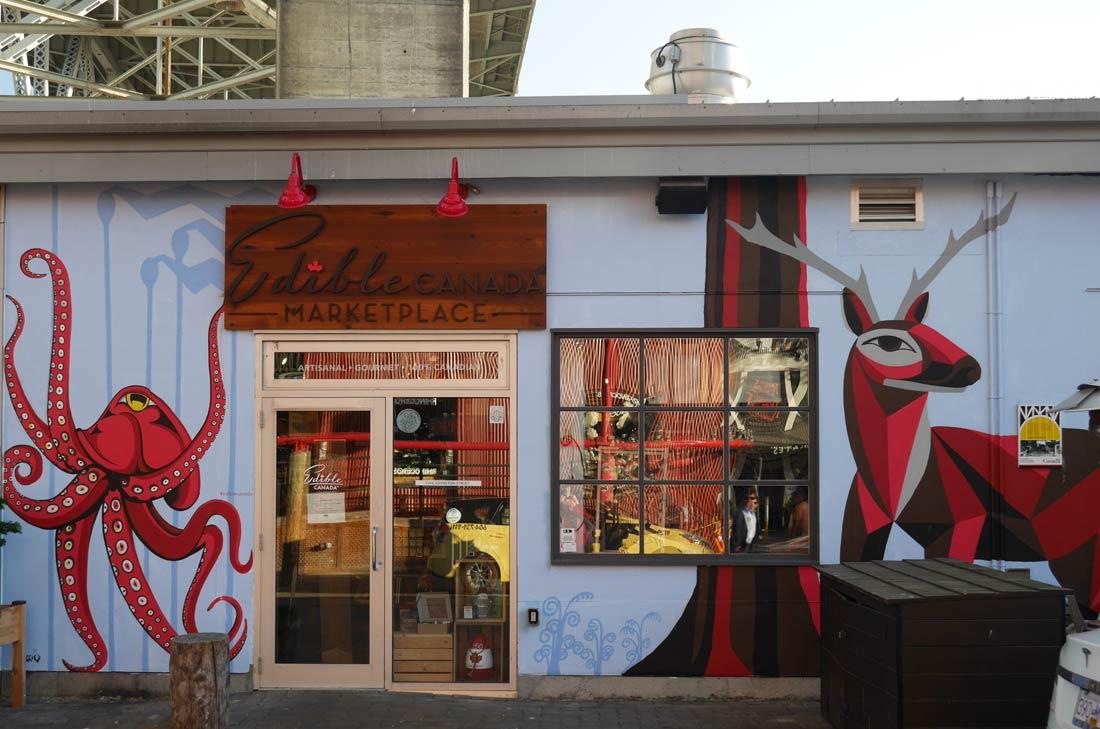 Boutique Edible Canada, granville island à Vancouver