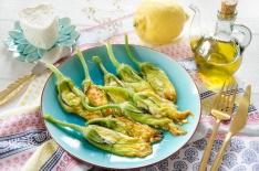 Fleurs de courgettes farcies ricotta citron