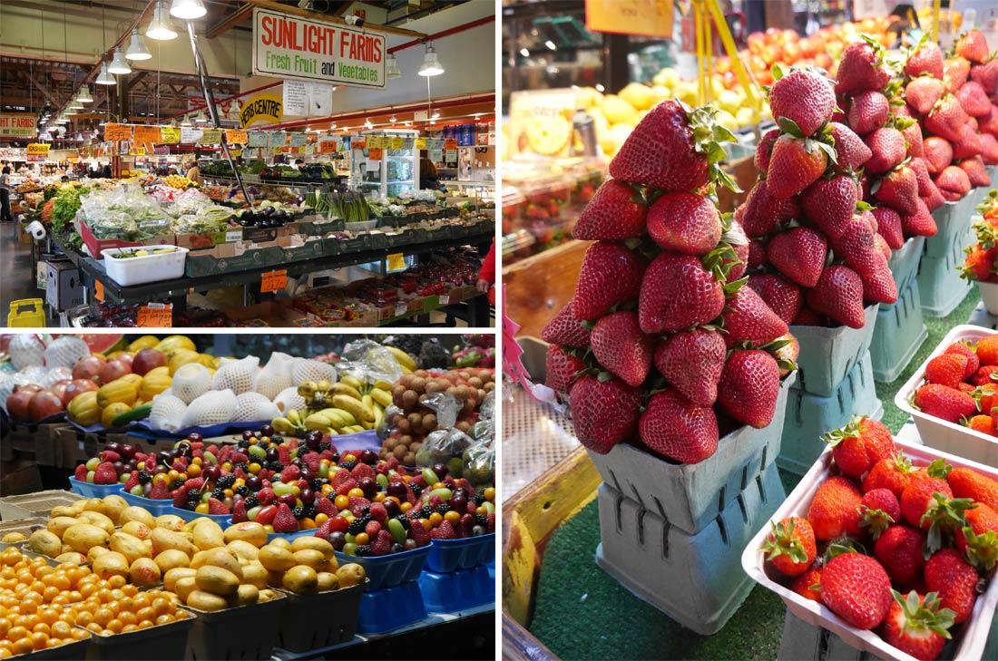 Stand de fruits à Granville Island Market