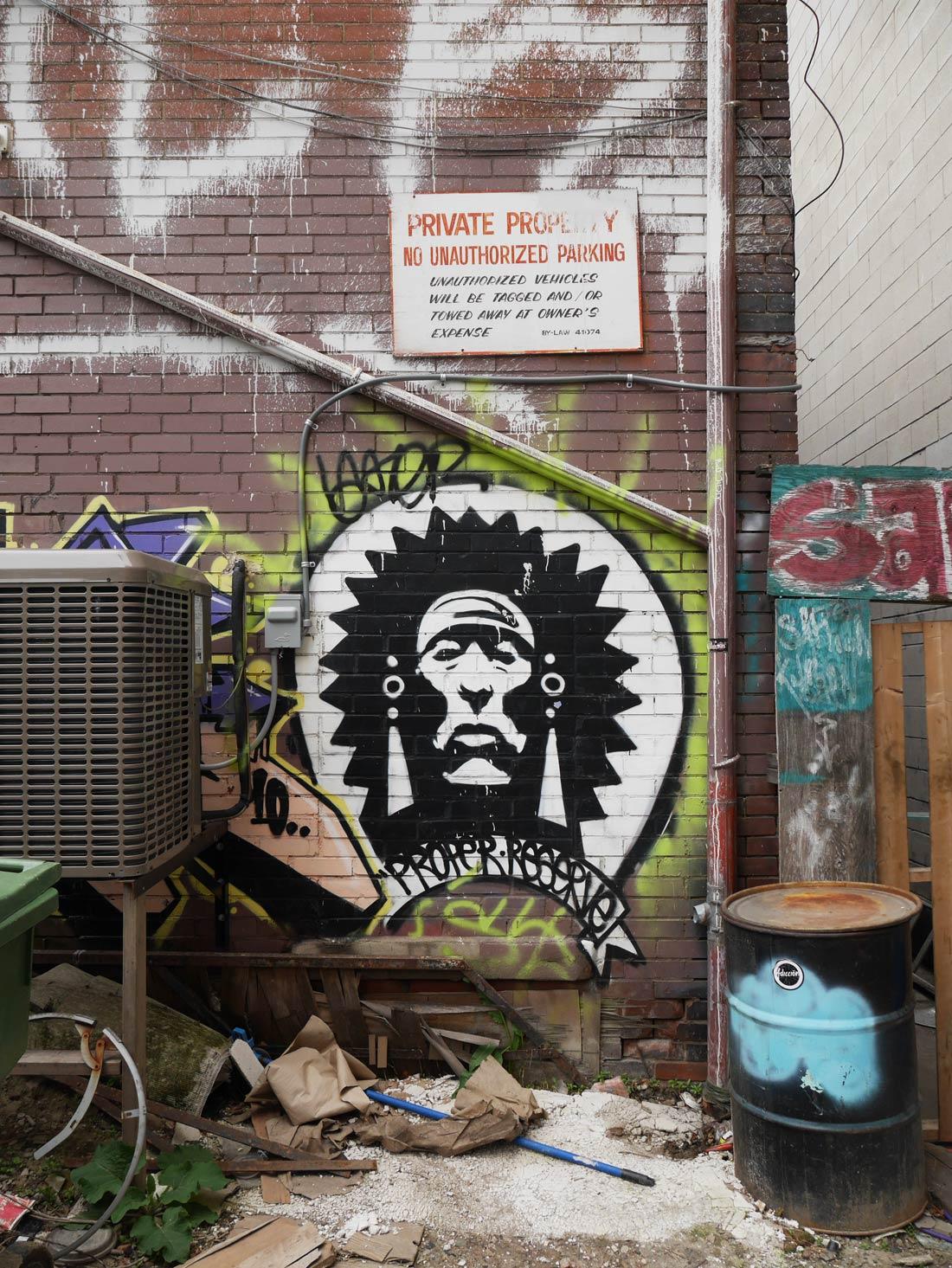 Murale indien dans Graffiti Alley in Toronto