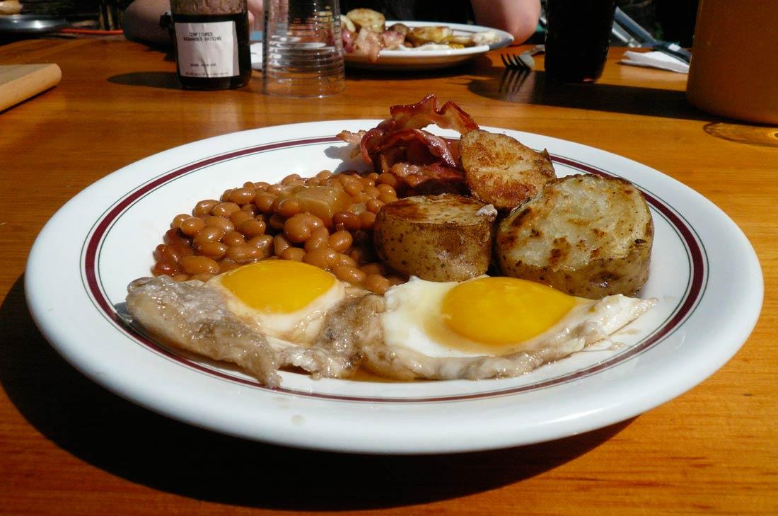 Assiette de petit-déjeuner à la québécoise