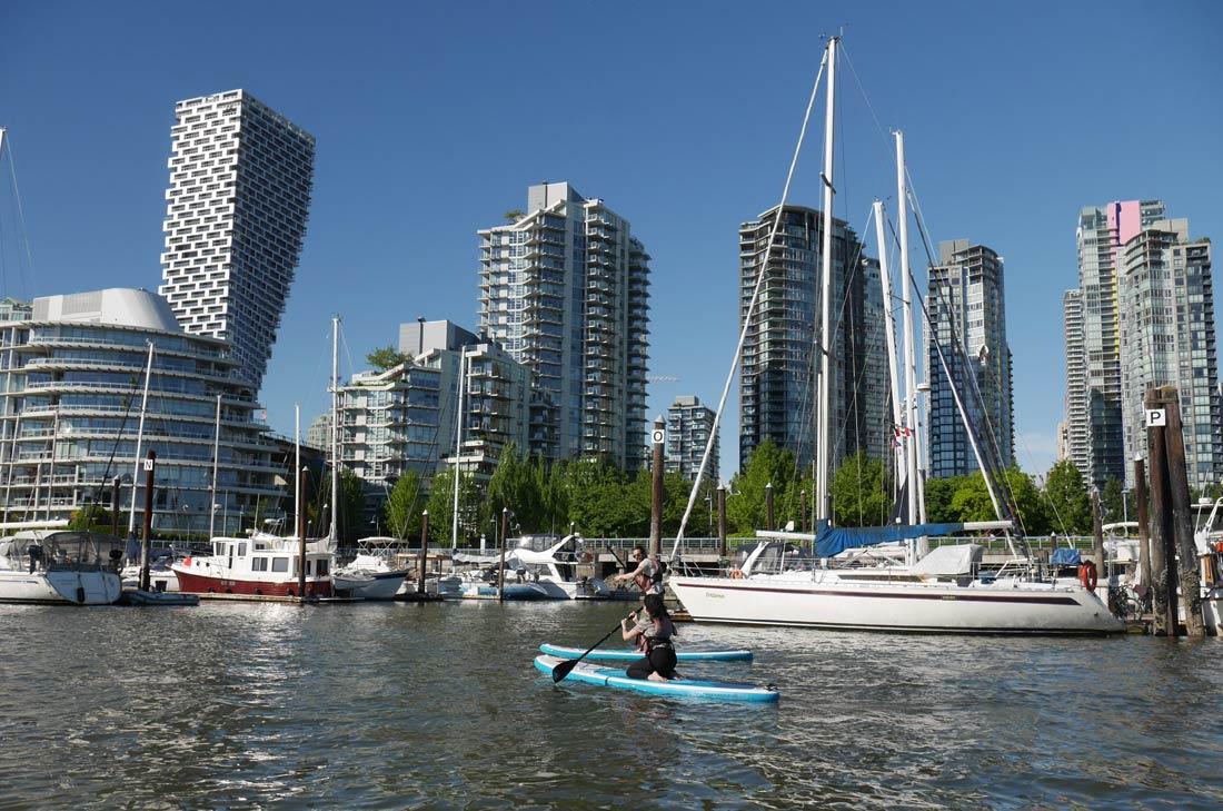 Faire du paddle à Vancouver
