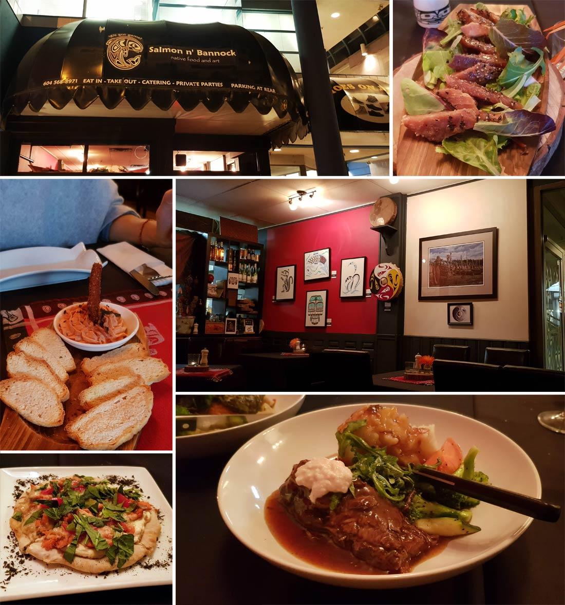 Restaurant de cuisine des Premières Nations, le Salmon'n bannock à Vancouver