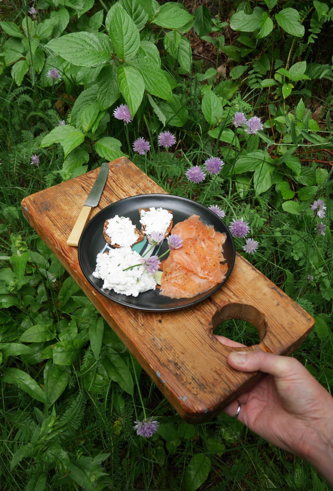 Tartinade ricotta ail ciboulette fait maison