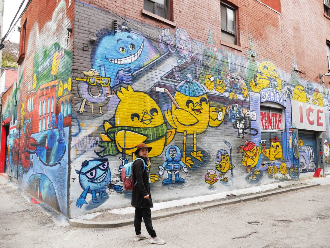 Murale Uber5000 dans Graffiti Alley à Toronto