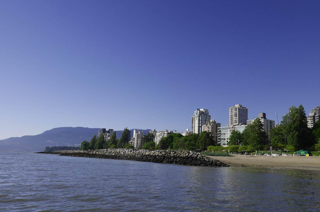 Vancouver depuis la mer