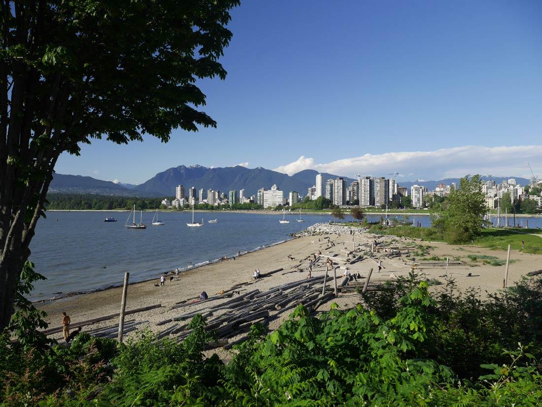 Plage de sable à Vancouver