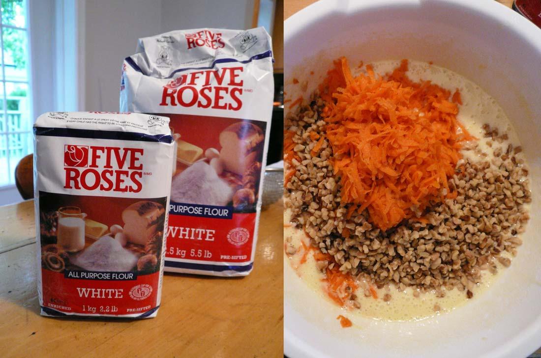 Gâteau carottes five roses
