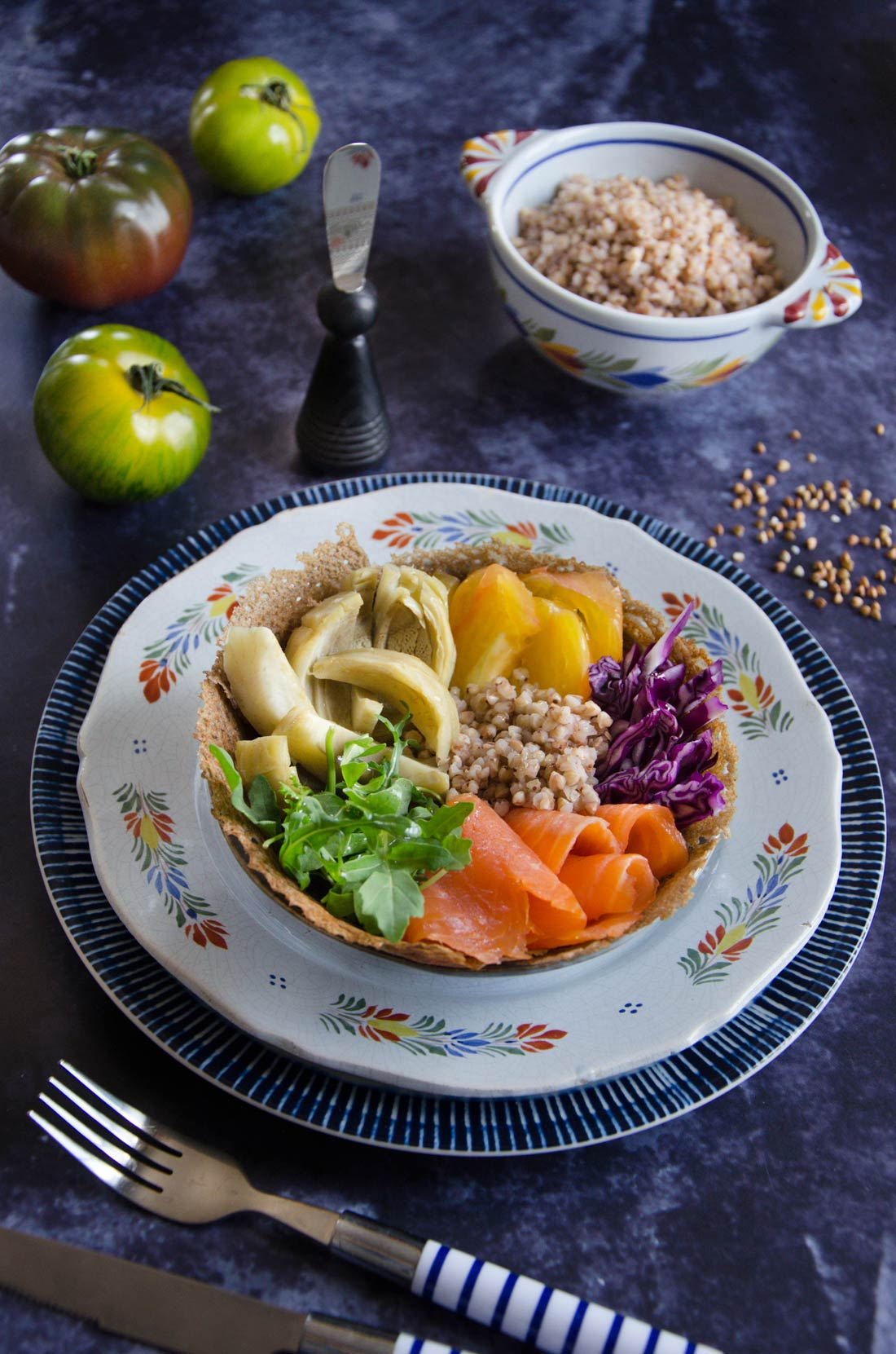 Breizh bowl truite artichauts sarrasin